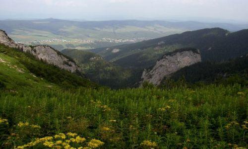 Zdjecie SłOWACJA / Tatry Bielskie / Szlak ze Ździaru na Szeroką Przełęcz / Nad skałami