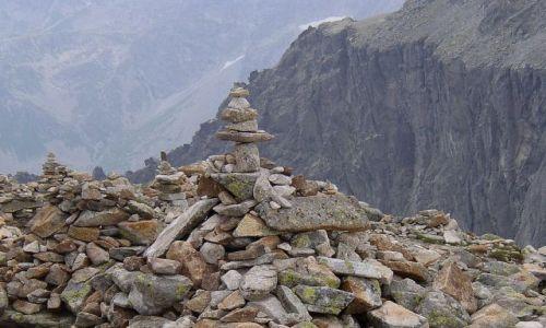 Zdjęcie SłOWACJA / Tatry Wysokie / Szlak na Rysy, powyżej Wagi / Slowackie kopczyki