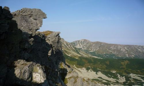 Zdjecie SłOWACJA / Tatry Zachodnie... / w oddali brestowa 1934npm. i skalne twarze :) / Tatry Zachodnie