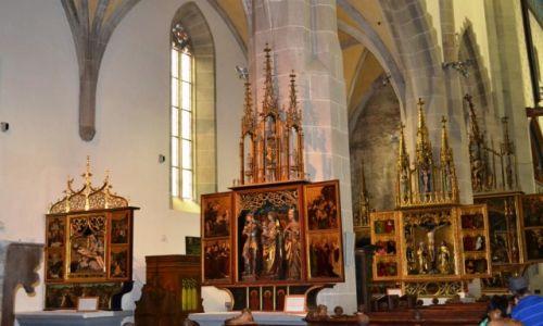 SłOWACJA / KRAJ PRESZOWSKI / Bardejów / Wnętrze Bazyliki św. Egidia