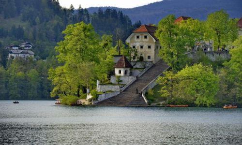 Zdjęcie SłOWACJA / Carniola / Bled / Schody do jeziora