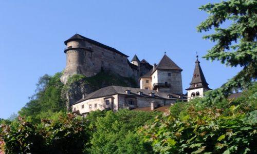 Zdjęcie SłOWACJA / Orawa / Orawski Podzamok / Zamek orawski (Oravsky hrad)