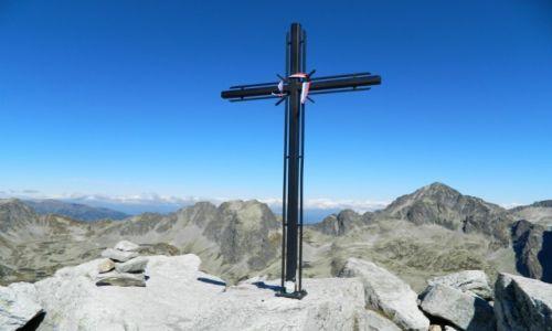 Zdjecie SłOWACJA / Tatry / Sławkowski Szczyt / Sławkowski Szczyt z krzyżem