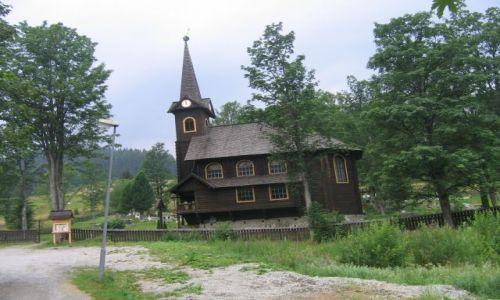 Zdjecie SłOWACJA / Wysokie Tatry / Javorova Dolina / Kościółek Św.Anny w Javorinie Tatrzanskiej