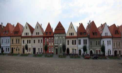 Zdjęcie SłOWACJA / Szarysz / Bardejov, Rynek / Kamieniczki