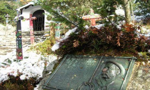 Zdjecie SłOWACJA / Tatry Wysokie / Symboliczny cmentarz pod Osterwą / Pamięci Klimka Bachledy
