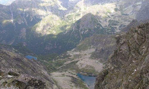 SłOWACJA / Tatry Wysokie / Rysy 2503 / Ciężka Dolina - widok z Rysów