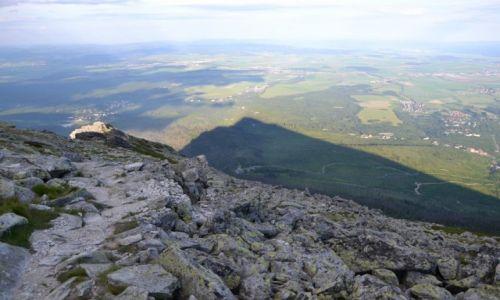 Zdjecie SłOWACJA / Tatry Wysokie / Sławkowski Szczyt / Cień wielkiej góry