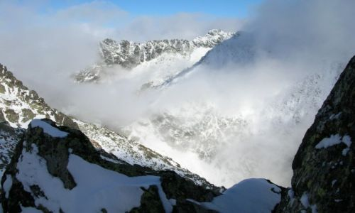 Zdjecie SłOWACJA / Tatry Wysokie / Przełęcz Daxnera / Widok z przełęczy Daxnera