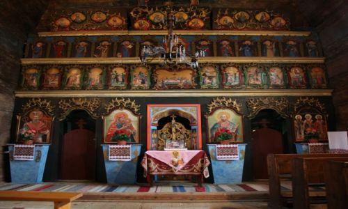 SłOWACJA / Szarysz / Bardejovske Kupele, Skansen architektury ludowej / Cerkiew ze Zboja, barokowy ikonostas z XVIIIw.