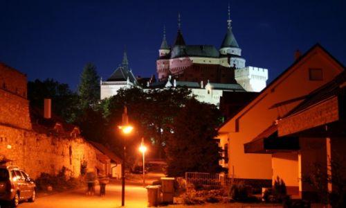 Zdjecie SłOWACJA / Bojnice / Bojnicki Zamek / Zamek nocą