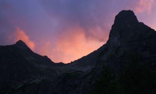 Zdjęcie SłOWACJA / Tatry Bielskie / Zielony Staw Kieżmarski / Durne szczyty o zachodzie