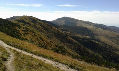 SłOWACJA / Mała  Fatra / szlak z Wielkiego Krywania na Południowy Gruń / Słowackie Piękności