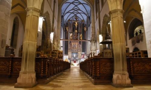 Zdjęcie SłOWACJA / Szarysz / Bardejów / Wnętrze kościoła św. Idziego