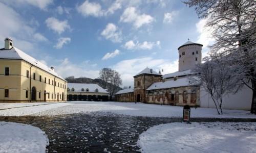 Zdjęcie SłOWACJA / Horne Povażie / Żilina / Zamek Budatín w bieli