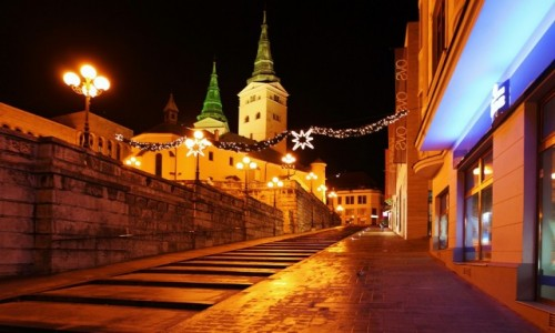 Zdjęcie SłOWACJA / Horne Povażie / Żilina / Nocny spacer