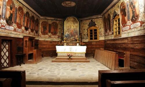 Zdjęcie SłOWACJA / Orawa / Zuberec / Kościół św. Elżbiety z Zabrzeża, pochodzący z XV w.