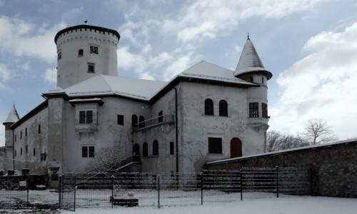 Zdjęcie SłOWACJA / Żilina / Zamek Budatín  / Widok od ogrodów