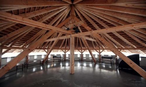 Zdjęcie SłOWACJA / Żilina / Zamek Budatín  / Konstrukcja dachu wieży