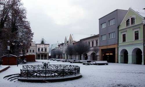 Zdjecie SłOWACJA / Żilina / Plac Mariański / Kamieniczki