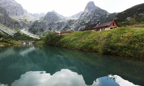 SłOWACJA / Dolina Zielona Kieżmarska / Zielony Staw Kieżmarski / W lustrze wody