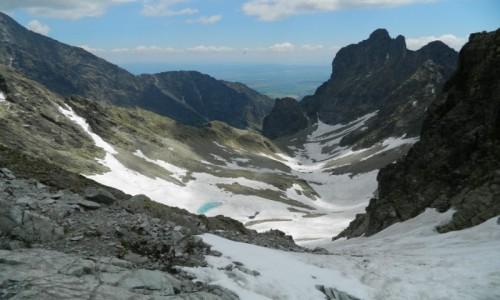 SłOWACJA /  od jaworowej doliny / gdzieś po drodze  / widok z Lodowej Przełęczy
