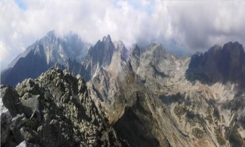 Zdjęcie SłOWACJA / Wysokie Tatry. / Sławkowski Szczyt 2452 m. / Panorama ze Sławkowskiego Szczytu.