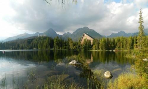 Zdjęcie SłOWACJA / Wysokie Tatry. / Szczyrbskie Jezioro. / Panorama z nad Sczyrbskiego Jeziora.