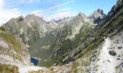 SłOWACJA / Osterwy. / Przełęcz pod Osterwą 1966,4 m. / Panorama z Przełęczy pod Osterwą.