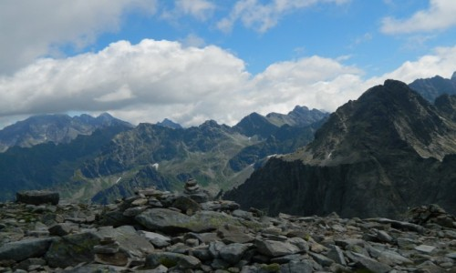 Zdjęcie SłOWACJA / Rysy. / Przełęcz Waga 2337 m. / Widok z Wagi 2337 m.