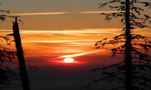 SłOWACJA / Rozstaje pod Sławkowskim szczytem. / Sławkowska Kazalnica Maksymiliana 1530 m. / Wschód słońca nad Smokowcem wys. 1530 m.