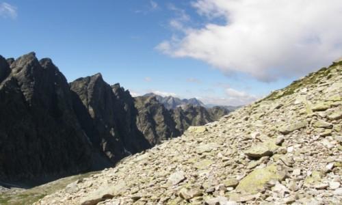 Zdjecie SłOWACJA / Lodowa Przełęcz.2372 m. / Dolina Jaworowa. / Na Lodową Przełęcz 2372 m.