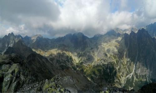 Zdjecie SłOWACJA / Wysokie Tatry. / Sławkowski Szczyt 2452 m. / Panorama ze Sławkowskiego Szczytu 2452 m.