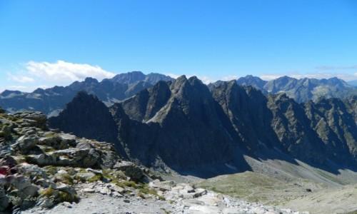 Zdjecie SłOWACJA / Wysokie Tatry. / Lodowa Przełęcz 2372 m. / Widok z Lodowej Przełęczy 2372 m.
