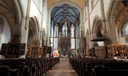 Zdjęcie SłOWACJA / Szarysz / Bardejów / Bazylika św. Idziego, wewnątrz