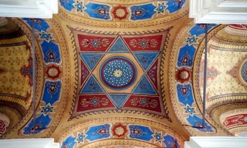 Zdjęcie SłOWACJA / Szarysz / Bardejów / Stara Synagoga, sklepienie