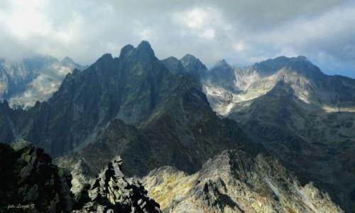 Zdjęcie SłOWACJA / Wysokie Tatry. / Sławkowski Szczyt. / Panorama ze Sławkowskiego szczytu.