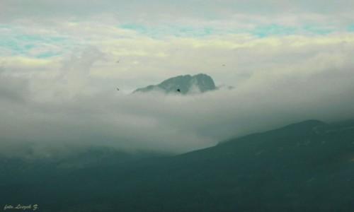 Zdjecie SłOWACJA / Wysokie Tatry. / Nowa Leśna. / Gerlach wyłania się z chmur.