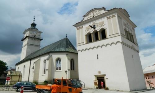 SłOWACJA / Poprad. / Spiska Sobota. / Spiska Sobota - kościół św. Jerzego.