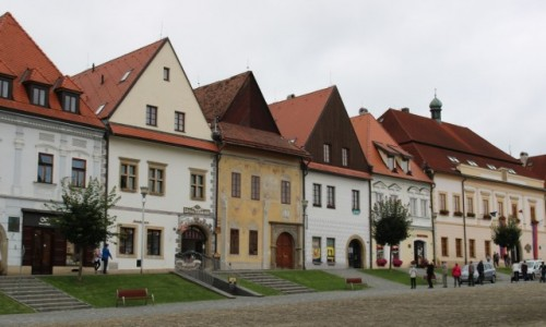 Zdjęcie SłOWACJA / - / Bardejów / Malownicze kamieniczki