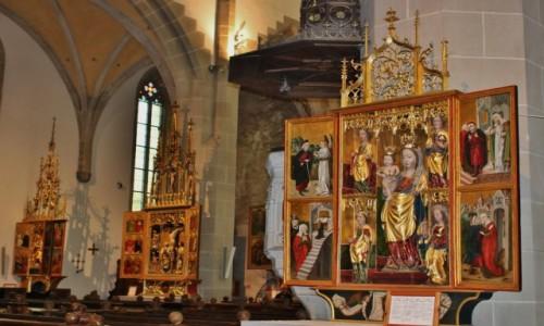 Zdjęcie SłOWACJA / - / Bardejów / Kościół św. Idziego.Tryptyki ołtarzowe