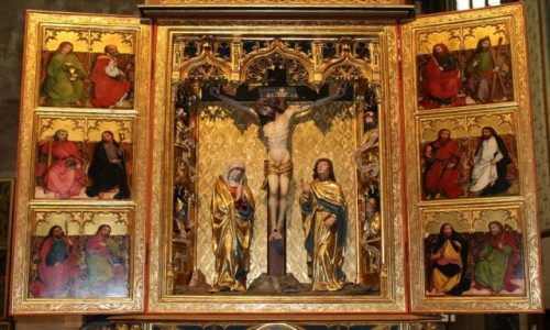 Zdjęcie SłOWACJA / - / Bardejów / Kościół św. Idziego. Ołtarz Ukrzyżowania
