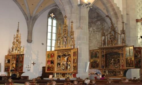 Zdjecie SłOWACJA / - / Bardejów / Kościół św. Idziego. Tryptyki ołtarzowe.