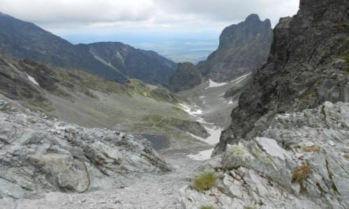 Zdjecie SłOWACJA / tatry wysokie / w drodze na lodową przełęcz / widok z Lodowej Przełęczy :)