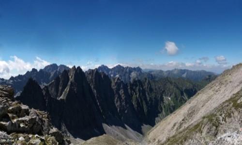 Zdjecie SłOWACJA / Wysokie Tatry. / Lodowa Przełęcz 2372 m. / PANORAMA - z Lodowej Przełęczy 2372 m.