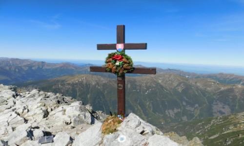 Zdjecie SłOWACJA / tatry wysokie / Krywań  / Krzyż na Krywaniu