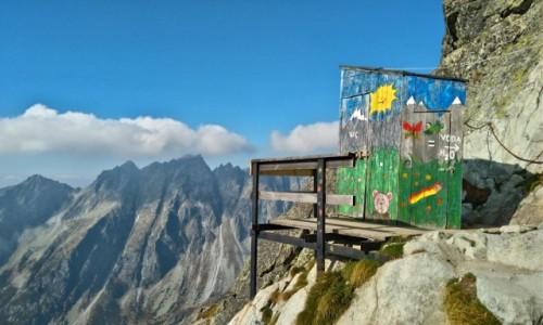 Zdjecie SłOWACJA / tatry / na szlaku... / najwyżej położona toaleta w Tatrach