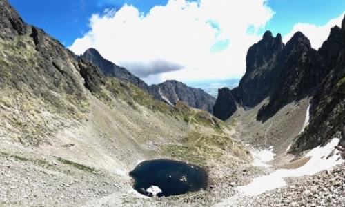 Zdjecie SłOWACJA / Wysokie Tatry. / Lodowa Przełęcz 2372 m. / Z lodowej Przełęczy do Doliny Lodowej.(Panorama)