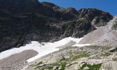 Zdjecie SłOWACJA / Lodowa Przełęcz 2372 m. / Dolina Lodowa. / Lodowa Przełęcz znad Lodowego Stawu.