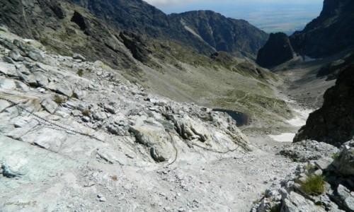 Zdjecie SłOWACJA / Mały Lodowy szczyt. / Lodowa Przełęcz 2372 m. / Zejście z Lodowej Przełęczy